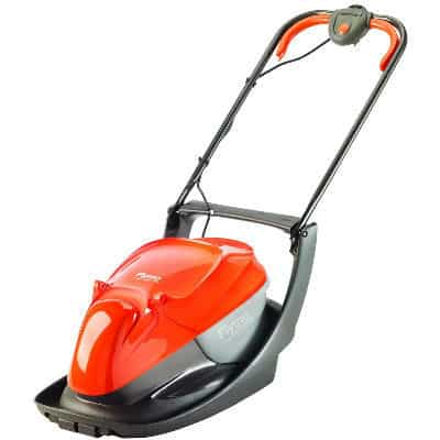 The flymo easi glide 300 lawnmower is the next step up from the popular Flymo Hovervac. It used the same powerful motor but has a slightly wider cutting width, longer power cable and collection box that compacts and collects the grass cutting.  Excellent for medium sized gardens
