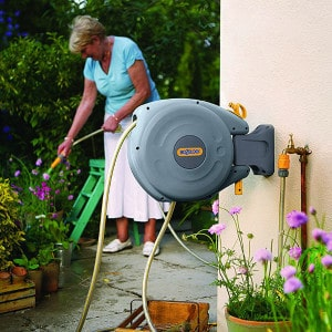 Best For Small Gardens - Hozelock Auto-Rewind 10 reel