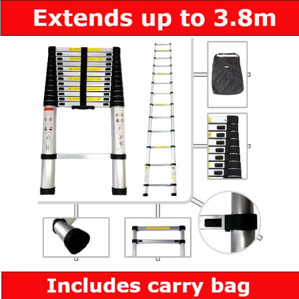 Sotech 3.8m Telescopic Ladder review