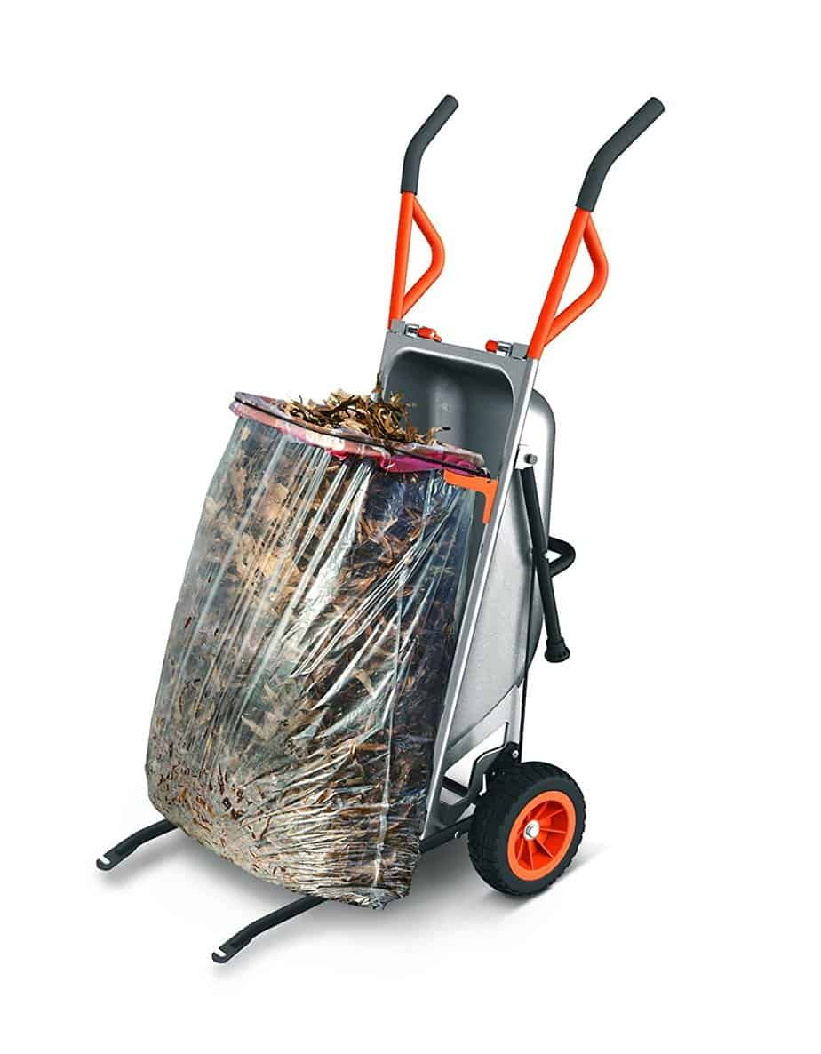 Worx Aerocart being used to collect leaves