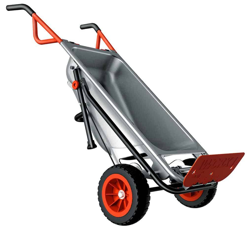 Worx Aerocart with dolly folded out