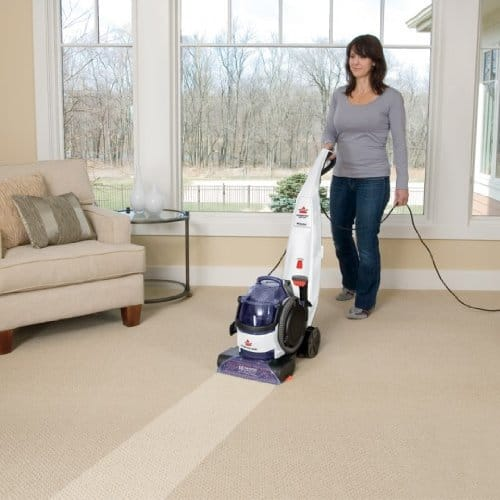 Bissell Lift Off Carpet Cleaner cleaning floor