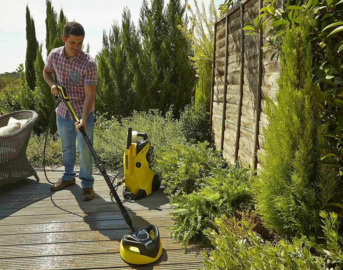 how to clean decking without a pressure washer uk