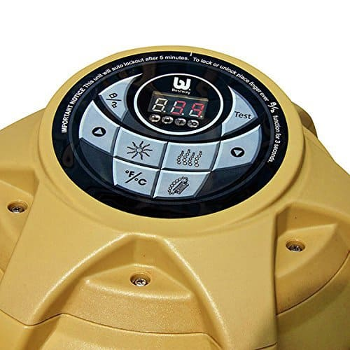 Lay-Z-Spa Palm Springs Inflatable Portable Hot Tub controls