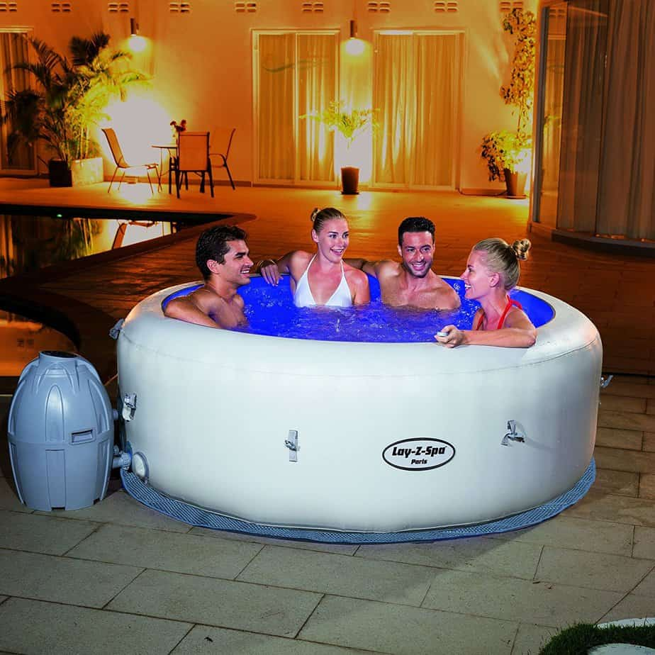 best inflatable hot tub reviews 8 of the best models for 2017. Black Bedroom Furniture Sets. Home Design Ideas