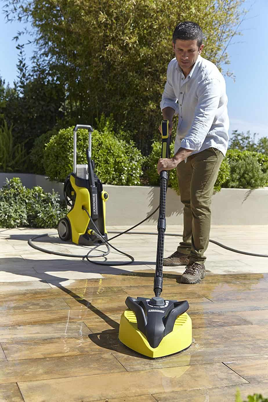 Karcher K7 Pressure Washer cleaning patio
