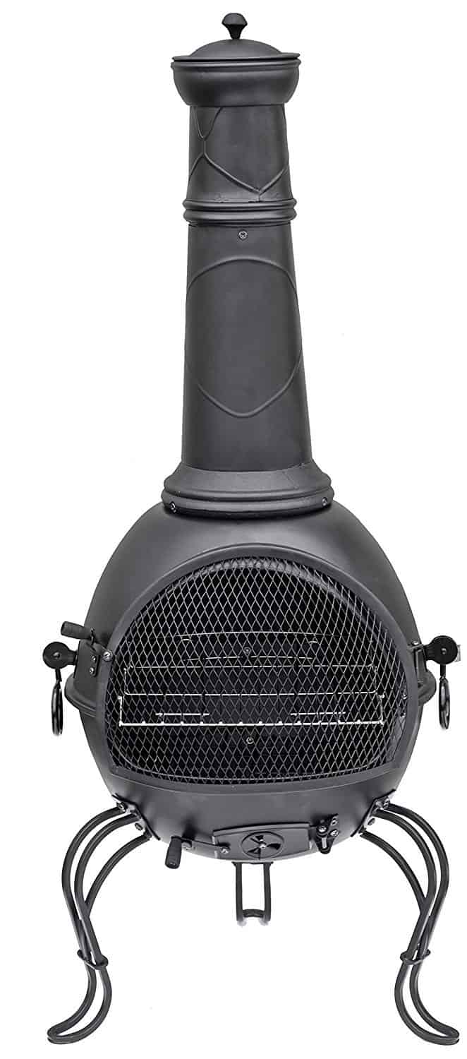 top  best chimineas for your garden – buyers guide and reviews  - la hacienda b cm xl murcia steel chiminea with grill review