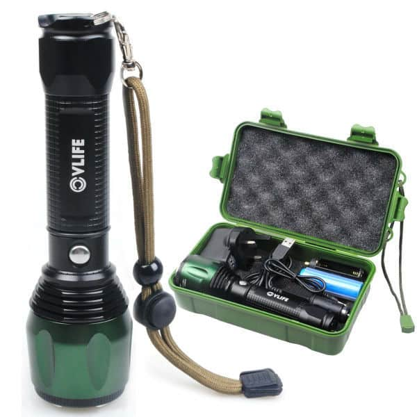 CVLIFE 1800Lm Zoomable CREE T6 LED Torch Review