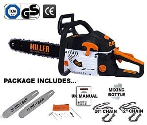 Miller 12 and 18 inch petrol chainsaw