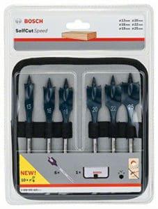 Bosch 2608587793 6 Piece Selfcut Flat Spade Wood Bit Set