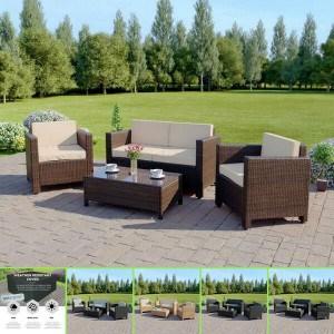 Abreo Garden Rattan Furniture Patio Set 4 Seater Review