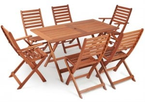VonHaus 6 Seater Wooden Dining Set Review