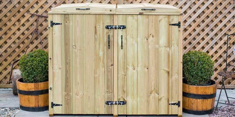Wheelie bin storage solutions - wheelie bin storage shed