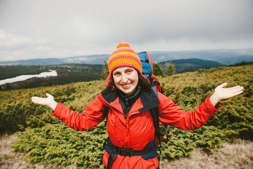 woman waterproof hiking coat
