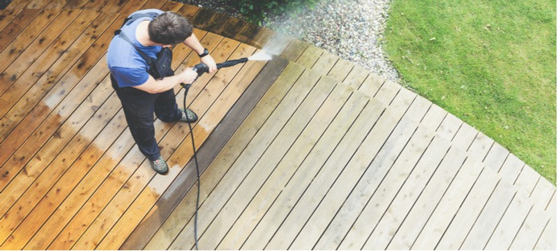 In this article, we discuss how to clean a patio or decking with a pressure washer covering everything from what to do and how to avoid damaging decking.