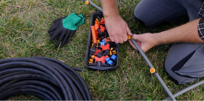 How to set up a water drip system