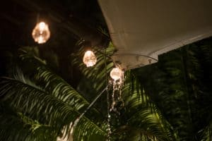 Garden awning lighting