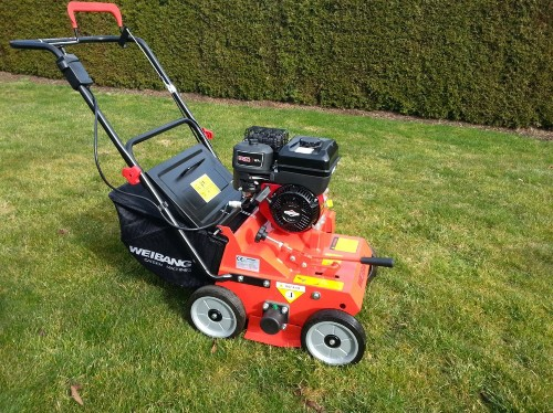 Weibang WB384RB-Push Petrol Lawn Scarifier for professional use or large lawns