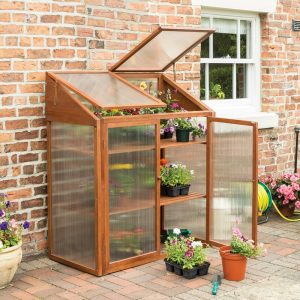 Alexei 1.2m W x 0.6m D Mini Greenhouse
