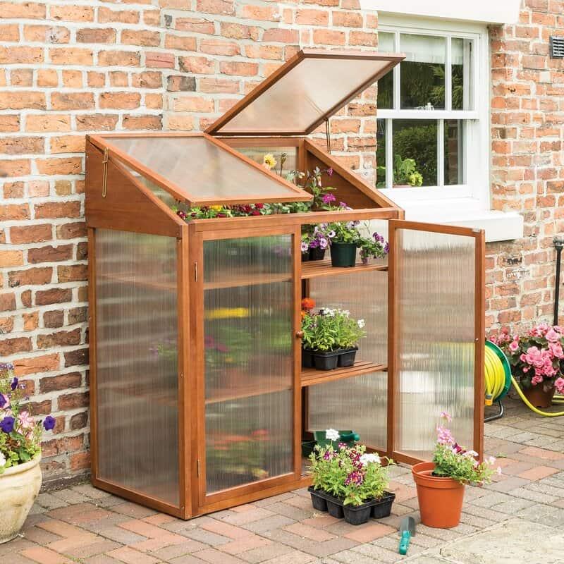 Alexei 1.2m W x 0.6m D Mini Greenhouse