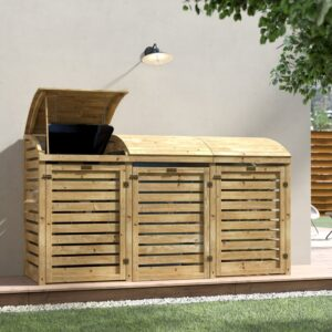 Alviso Wooden Triple Bin Store review