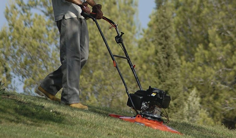 Hover mowers are popular for small gardens but you can get professional petrol grade models which are better for slopes and banks. See the best hover mowers now