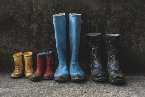 Comparing different sized wellies