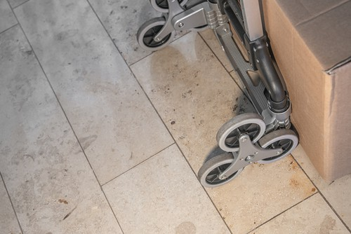 Sack truck with stair climbing wheels