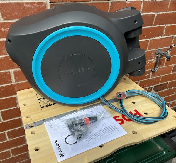 Gardena Wall-mounted Hose Reel Before Attaching To Wall