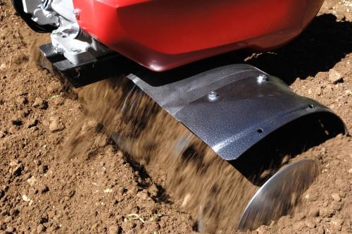 Rotavator digging depth