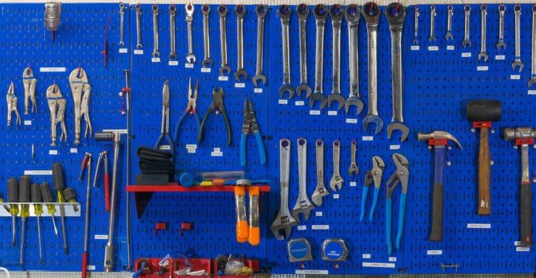 Best Wall Mounted Tool Racks - plastic and metal tool racks for organising your tools