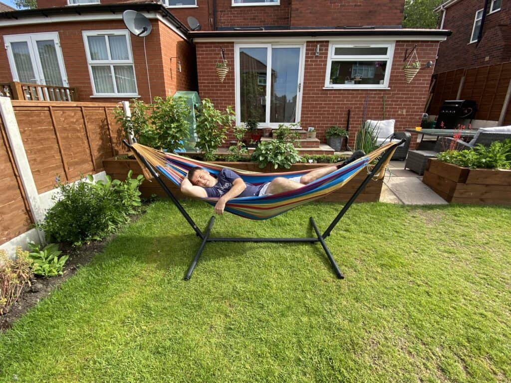 My top pick when it comes to garden hammocks, the  Vivere double hammock