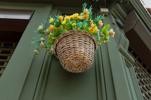 Choosing to use artificial hanging basket can be good for public places as some people are asthma or hay fever which can be triggered by real hanging baskets on rare occasions