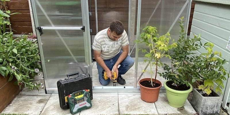 How to secure your greenhouse to a patio or concrete pad