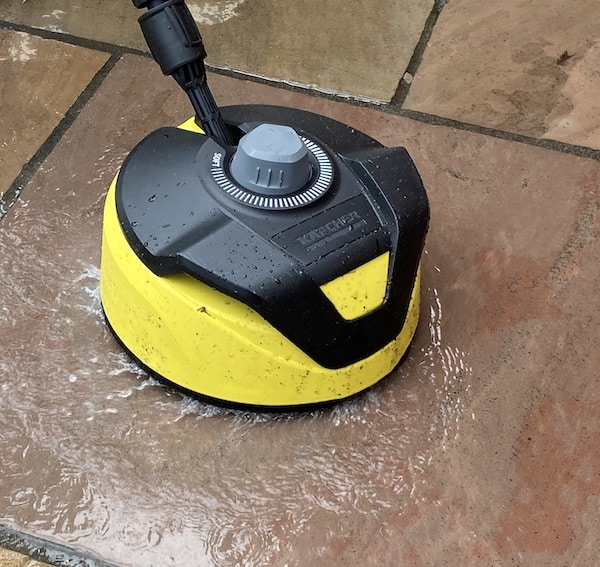 TheT5 Surface cleaner has two powerful spinning jets and a brush rim top help remove dirt quickly