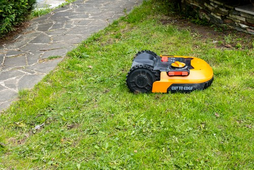 Robot lawn mowers with build in sensors to avoid obsticles