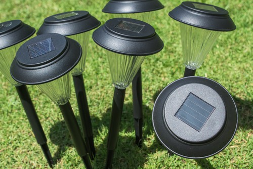 Set of garden solar lights ideal for paths and borders