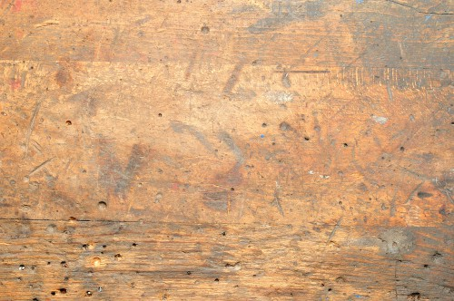 Wood workbench top that is durable and well used