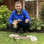 If you have lots of bulbs to plant you can't make it any easier than using a bulb auger, there affordable, easy to use and I wish I invested in one years ago.